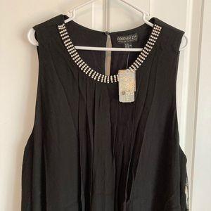 NWT Forever 21 Plus Rhinestone Lined Dress